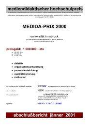 Evaluationskriterien des MeDiDa-Prix 2000