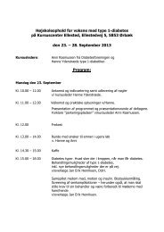 Se kursets program - Diabetesforeningen