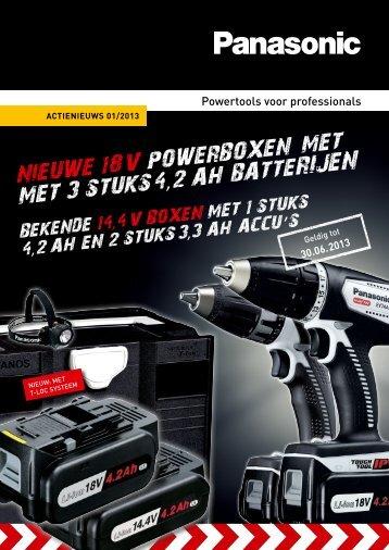 Nieuwe 18 V PowerBoxeN met met 3 stuks 4 ,2 AH BAtte - De Jager ...