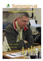 3e jaargang nummer 4 – 4 september 2008 - Schaakcombinatie HTV