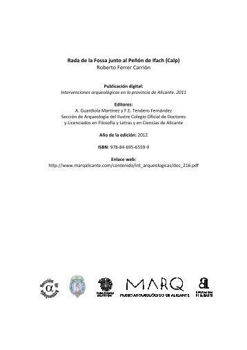 11-0332 Rada de la Fossa \(Calp\) Ferrer Carrión - Marq