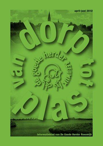 Informatieblad van De Goede Herder Reeuwijk april-juni 2012