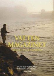 Vattenmagazinet 1999-2000.pdf - Göta älvs vattenvårdsförbund