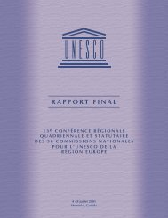 RAPPORT FINAL - La Commission canadienne pour l'UNESCO