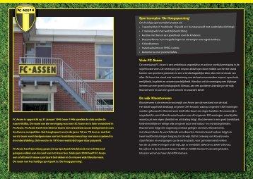 Sportcomplex 'De Hoogspanning' Visie FC Assen De wijk ...