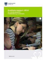 Kvalitetsrapport 2009 - Fredensborg Skole