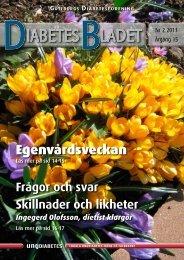 DiabetesBladet nr 2, 2013 - Göteborgs Diabetesförening