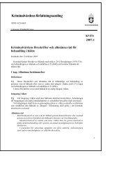 KVFS 2007:1 - Kriminalvården