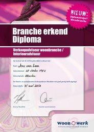 Branche erkend Diploma - Werken in wonen