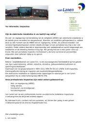 Ter informatie: Inspecties Zijn de elektrische installaties ... - Van-lanen