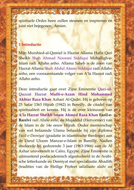 036 Murshid Muried gids.pdf - Islamitische Wetenschap Ahle Sunnat