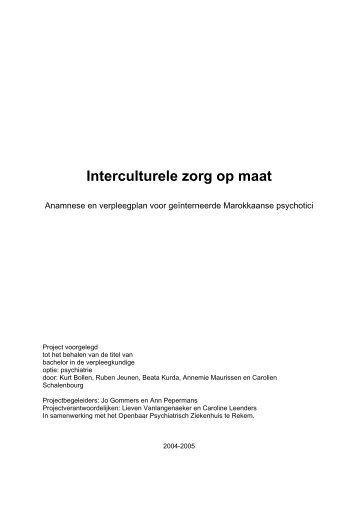 Interculturele zorg op maat - OPZ Rekem