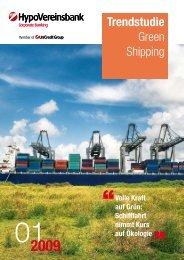 Trendstudie Green Shipping - Hypovereinsbank