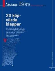 20 köpvärda klappar