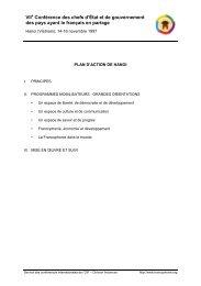 VII Conférence des chefs d'État et de gouvernement des pays ayant ...