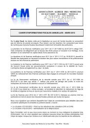 Informations fiscales annuelles - Mars 2012 - AAM | Association ...
