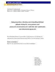 Riktlinjer för Myositer från Örebro