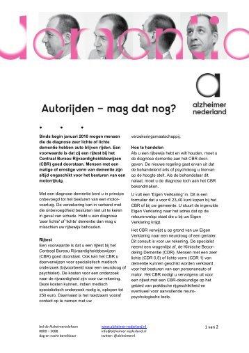 Download - Autorijden en dementie - Alzheimer Nederland