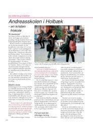 Andreasskolen i Holbæk - Friskolebladet