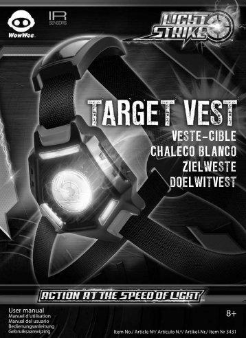 veste-cible chaleco blanco zielweste doelwitvest - WowWee