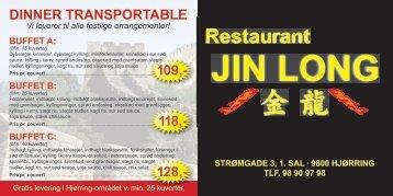 Menukort - Restaurant Jin Long. Kinesisk restaurant i Hjørring, buffet ...