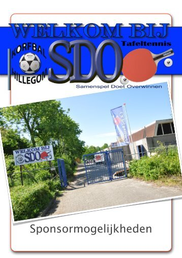 sponsorbrochure - SDO Tafeltennis – Hillegom