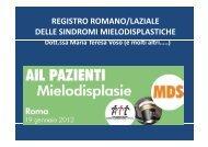 registro romano/laziale delle sindromi mielodisplastiche - Ail