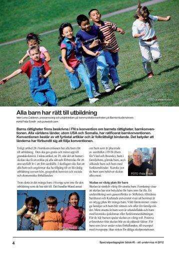 Alla barn har rätt till utbildning - SFSP