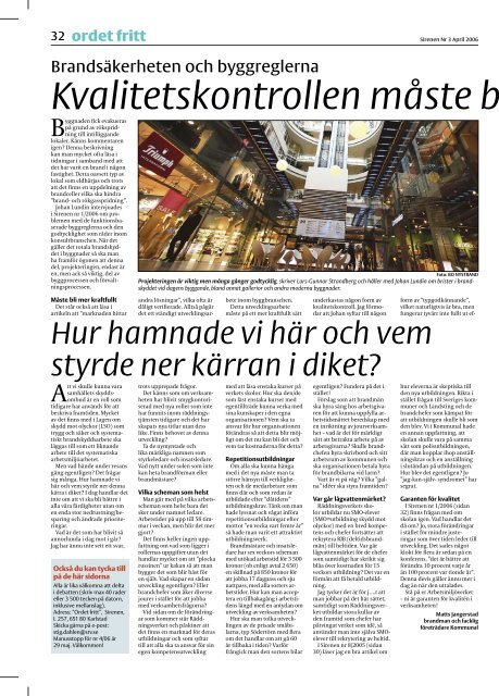 Sirenen nr 3 2006 sidan 1 - Tjugofyra7