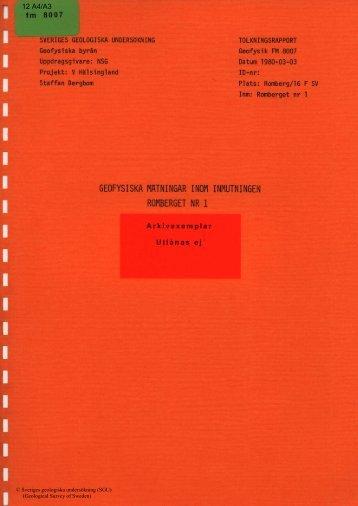 12 A4/A3 - Sveriges geologiska undersökning