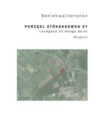 Beeldkwaliteitplan PERCEEL STÖKSKESWEG 57 - Planviewer