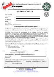 2 Aufnahmeantrag Durchschrift - VdH Donaueschingen