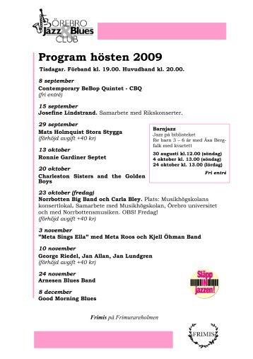(Ladda hem programbladet (pdf) här! ) - Örebro Jazz & Blues Club