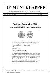 Duit van Reckheim, 1681, de feodaliteit in een notendop (51 ... - Egmp