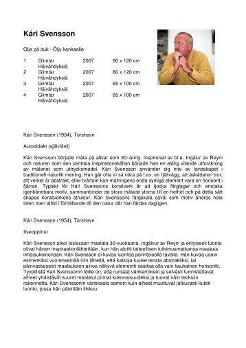Kári Svensson - Tjaldur