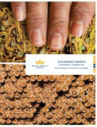 Sustainability Summary 2010 - British American Tobacco
