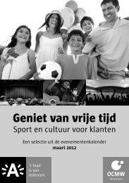 Sport en cultuur voor klanten - OCMW Antwerpen
