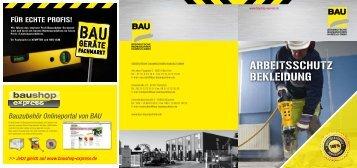 Arbeitssicherheit Flyer Oktober 2012 - BAU Süddeutsche ...