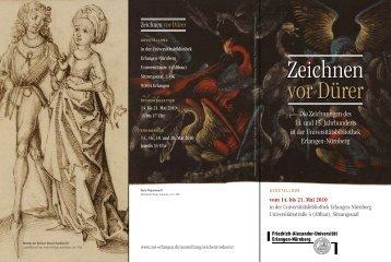 Flyer zur Ausstellung Zeichnen vor Dürer