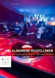 Brochure dansgelegenheden - Jeugddienst Brugge