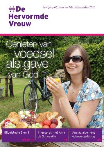 voedsel als gave - Hervormde Vrouwenbond