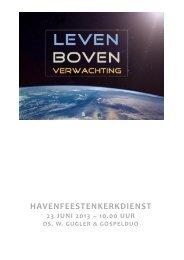Liturgie Kerkdienst 2013 - Schouten Enterprises