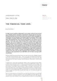 THE FINANCIAL YEAR 2005. - Oerlikon Barmag