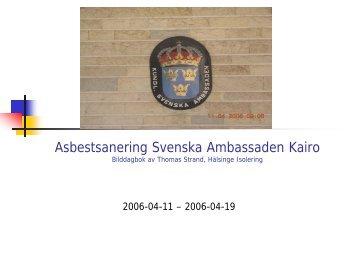 Asbestsanering Svenska Ambassaden Kairo - Lernia