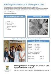 Månadsprogram juni, juli, augusti 2013