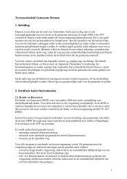 Terrassenbeleid Diemen 2007 - Gemeente Diemen