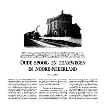oude spoor- en tramwegen in noord-nederland - Noorderbreedte