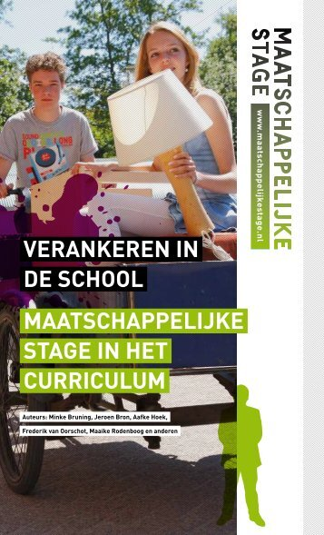 """Download """"Maatschappelijke stage verankeren in de school ..."""