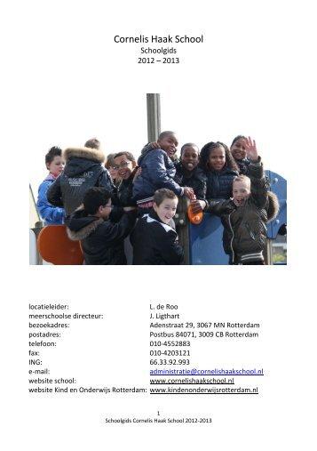 Schoolgids 2012-2013 - Cornelis Haak School