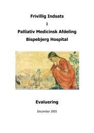 Besøgsvenner i Palliativ Medicinsk Afdeling - Bispebjerg Hospital